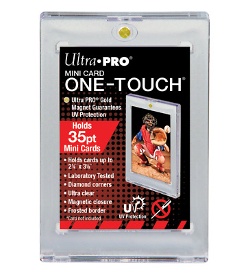 (20 Pack) Ultra pro Mini Cartoline One Touch Magnetico Supporto Topps / Bowman