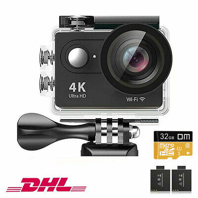 Daping Action Sports Cam WIFI 4K Camera mit 2.4G Fernbedienung 12MP Helmkamera