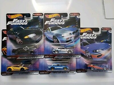 2019 Hot Wheels Premium FAST & FURIOUS Complete Set of 5