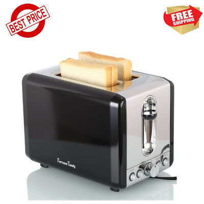 2 Slice Bread Bagel Toaster Stainless Steel Adjustable Temperature Wide Slot New