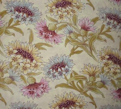 WINTER SALE, GENTLY FADED 19th CENTURY FRENCH LINEN COTTON, CORNFLOWERS 113