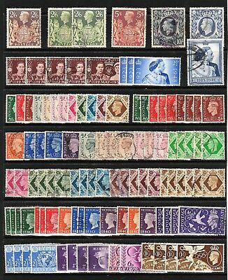GB George VI STAMPS Accumulation DEFINS COMMEMS INC High Values Ref:QM681a