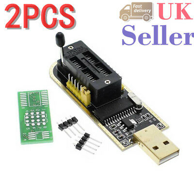 2pcs 25 SPI Series 24 CH341A BIOS Writer Routing LCD Flash USB Programmer New