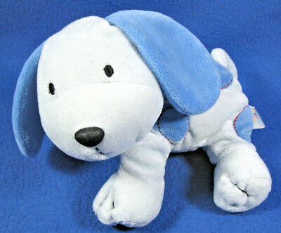 Carters Just One Year Plush Blue Puppy Dog Blue Dots Red Stitches & Collar Toy