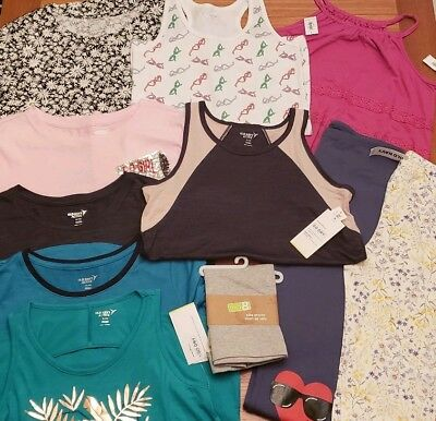 NEW Old Navy Girls SIZE 14 Summer Clothing Lot 11 PIECES Tees Tanks #30-277-19