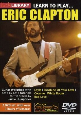Lick Library Learn To Play Eric Clapton Guitar Dvd! New