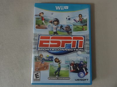 EUC ESPN Sports Connection - Nintendo Wii U Video Game Complete Free Ship