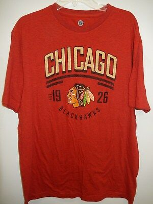 "9109-6 MENS CHICAGO BLACKHAWKS ""Team Logo"" Jersey Shirt Red LARGE New"