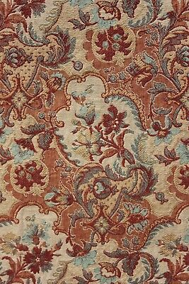 Bed Curtain Antique French Art & Crafts woven jacquard weave fabric c 1885 RIGHT
