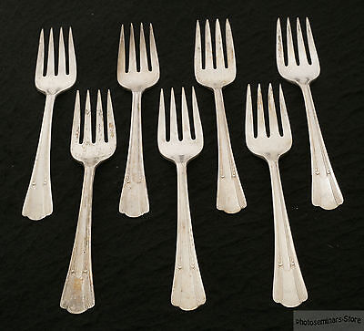 """Lady Betty Silver Plate Vintage Salad Forks """"Lady Betty"""" ca 1940 (7) (#1862)"""