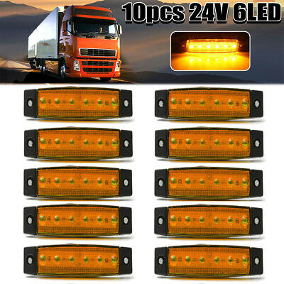 Super Bright Side Marker Light Lamp Trailers Wagons Durable ABS Material 6 LED