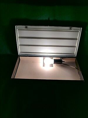 Vintage Smith-Victor Model SS1A Backlit Slide Sorter Metal Case w/Handle - Works