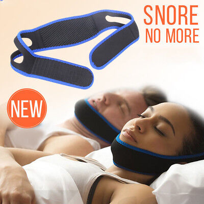 Anti Snoring Chin Strap Belt Stop Snore Device Apnea Jaw Support Solution