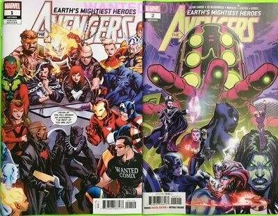 Avengers #1 Wanted Comix Store Exclusive Variant Cover Avengers 181 & #2 Set Lot