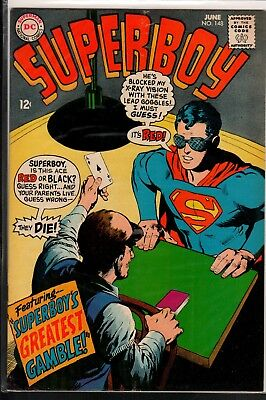 Superboy #148 VG/FN 5.0 DC Silver Age Classic 1968!!!