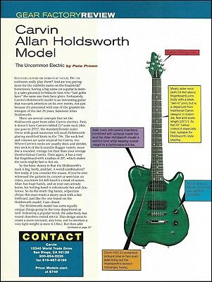 Carvin Allan Holdsworth Signature Model Guitar Sound Check Gear Review Article