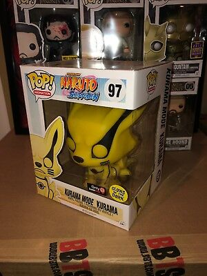 Funko Pop Anime Naruto Shippuden Glow In Dark Kurama Mode GameStop Exclusive