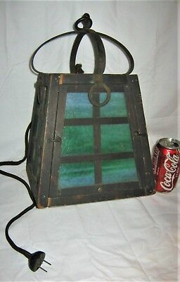Antique Arts Crafts Mission Us Architectural Door Light Lamp Wall Pole Fixture