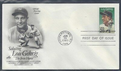 #2417 Lou Gehrig First Day Cover with Cachet Lot 2
