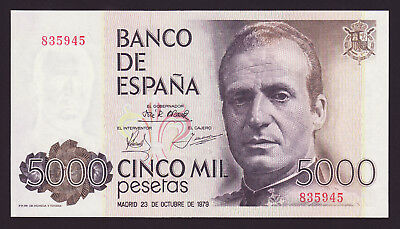 SPAIN  -  5000 pesetas,1979  -  without series  -  P 160  -  UNC