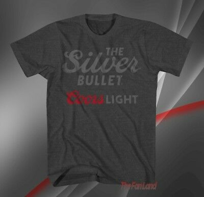 New Coors Light Beer The Silver Bullet Classic 1978 Mens Vintage T-Shirt