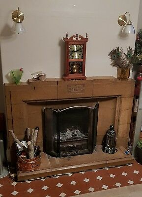 Teak Coloured Wooden Reproduction Wall/mantle Clock 31 Day Mechanical