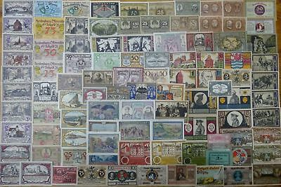 (1) Germany / Poland - Notgeld collection !!! 100 pieces !!! good used