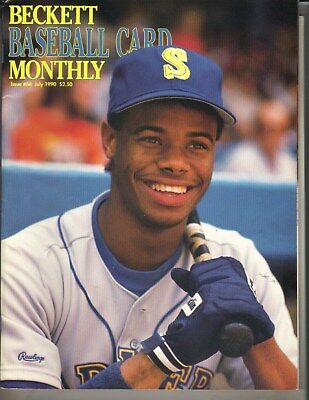 Ken Griffey Jr Seattle Mariners Beckett Baseball Cartoline Mensile 7/90 The Kid