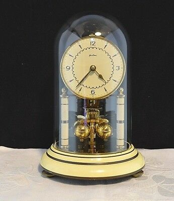 Vintage Bentima Kern 400 Days Anniversary Clock Glass Dome Old German 1950s