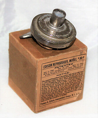 Edison Model R 4-Minute Reproducer with Large Diaphragm in Box