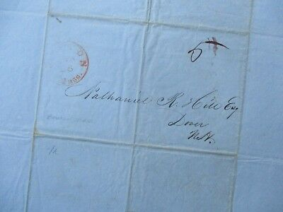 1844 Barrel of Sperm Whale Oil,(Price),Stampless cover Boston,Mass.,Letter!