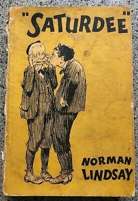 1933 1ST SATURDEE, NORMAN LINDSAY rare cardcovers 1st edition, FREE SHIPPING