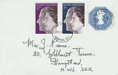 GB 1972 Royal Silver Wedding FDC London W1 CDS VGC