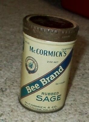McCormick's Bee Brand Rubbed Sage Spice Tin