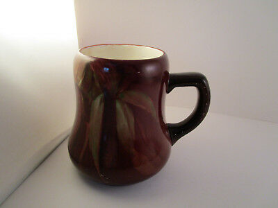 Vintage Unmarked Art Pottery Painted Corn Coffee Cup Mug