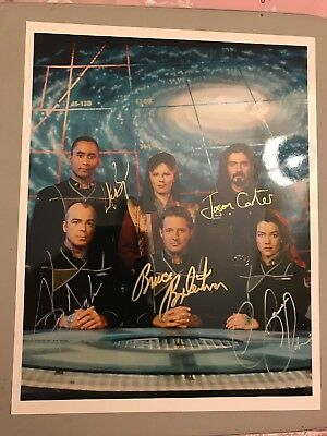 Babylon 5 Autograph By 5 Cast Members Signed 8x10 Photo Some Deceased