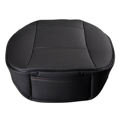 Car Seat Cover Protector Cushion Black PU Leather Front Cover Universal A