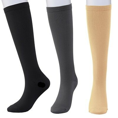 Compression Socks for Men and Women for Running Travel Flight Pregnancy 3 Colors
