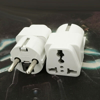 USA US UK AU To EU Europe Travel Charger Power Adapter Converter Home Wall Plug