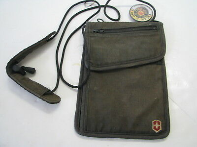 VICTORINOX Swiss Army BLACK NECK WALLET Travel Doc Holder MONEY HOLDER POUCH BAG