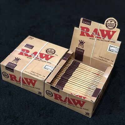 50X Classic: Raw Kingsize Slim Rolling Papers