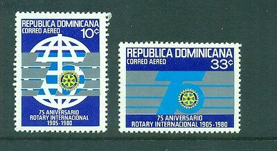 Dominican Republic 1981 Rotary International 75th Anniversary  MLH Sc C335-C336