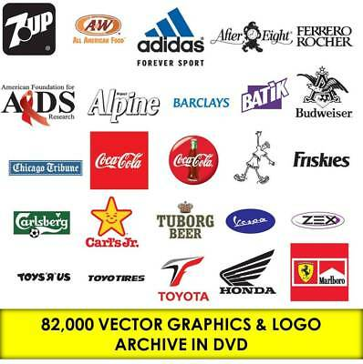 82,000 VECTOR GRAPHIC VINYL LOGO DESIGN DVD Collection SIGNS EPS AI File Picture