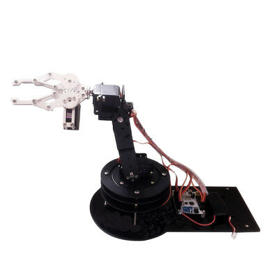5 DOF Full Metal Robot Arm Gripper Kit with Acrylic Rotating Base Arduino