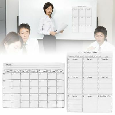 DIY Magnetic Calendar Board Planner Monthly Weekly Daily Refrigerator Whiteboard