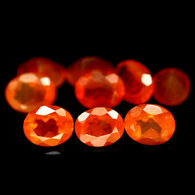 2.24 Ct Natural 9Pcs Orange Fire Opal Mexican Oval