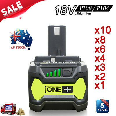18V 6.0AH For Ryobi P108 P104 P102 ONE+ Plus P103 P105 P107 P109 Lithium Battery