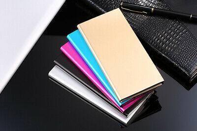 UK Dual USB LED 50000mAh Metal Power Bank Portable Battery Charger For All Phone