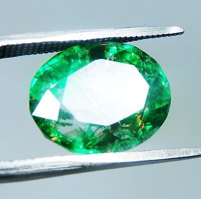 12.5 CT Unheated Natural Oval Cut Colombia Natural Emerald J165J
