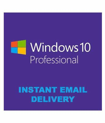 Microsoft Windows 10 Pro 1PC Key Activation 32/64 Bit Instant Delivery